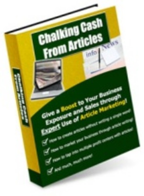 Product picture Chalking-cash from articles -make money from home